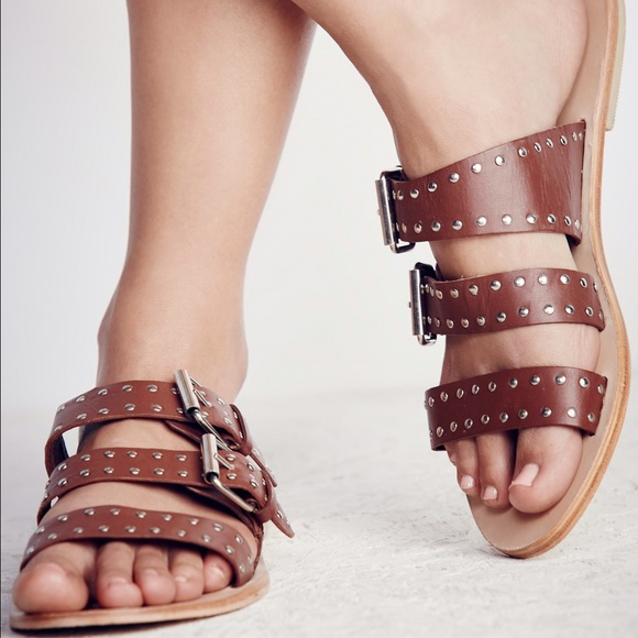 4e1ef8b7fd93d4 NIB Free People Adorn Slip Sandal Brown 6 7 and 8