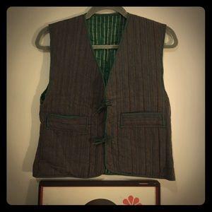 Vintage Reversible bohemian 70s vest