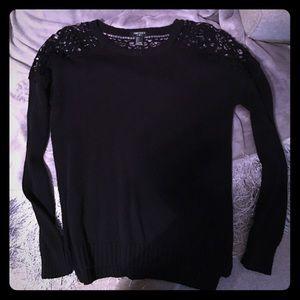 Forever 21 Lace Shoulder Sweater - SM