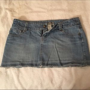 Frayed jean skirt by Forever 21. Size S.