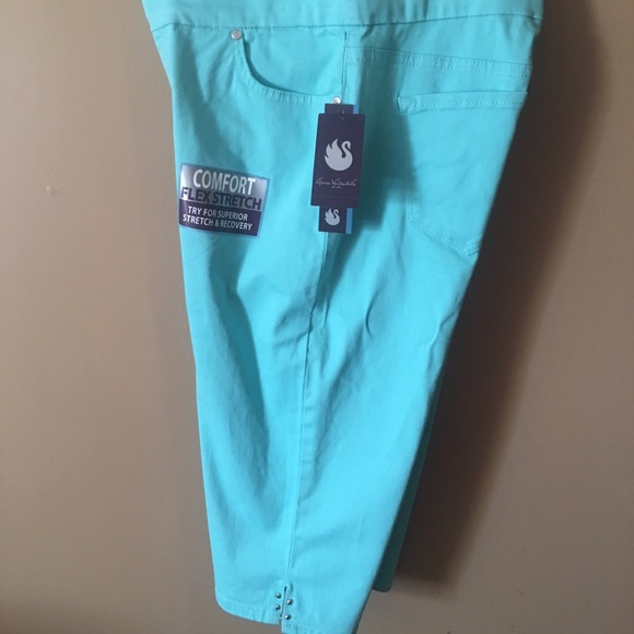 48% off Gloria Vanderbilt Pants - Light turquoise Capri pants from ...