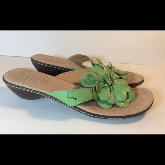 5411950e1b60a b.o.c. Shoes - BOC Born Sandals Green Sz 10 Flower Leather