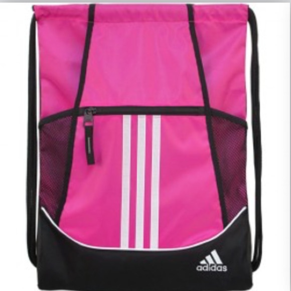 7e66944a42f adidas Bags   Pink Drawstring Backpack   Poshmark