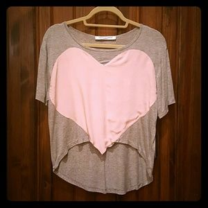 Laugh Cry Repeat Tops - Laugh Cry Repeat Heart Crop Tee