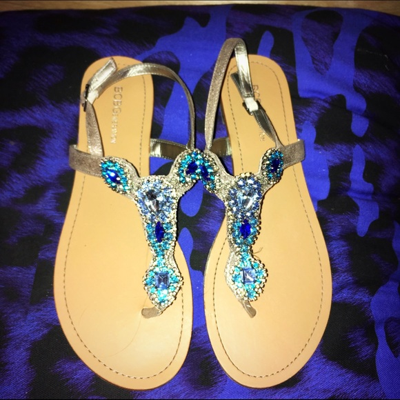 f3ce522a8 BCBGeneration Shoes - BCBGeneration blue rhinestone sandals