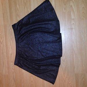 Black sparkly skater skirt