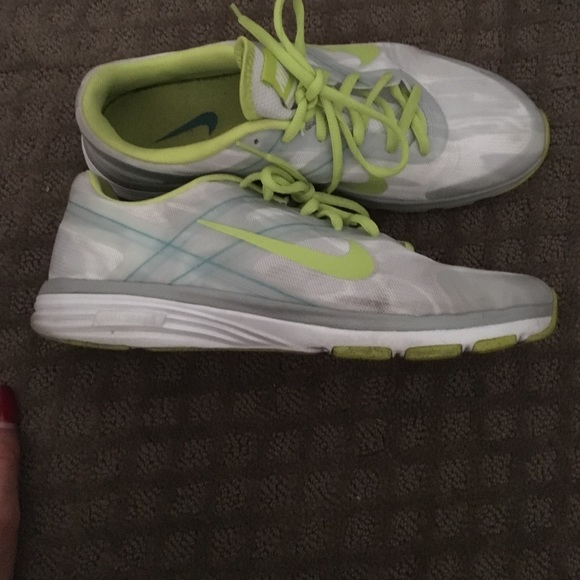 69 off nike shoes neon green and white nike training