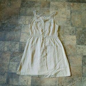 *SALE* EUC! Converse One Star cream boho dress