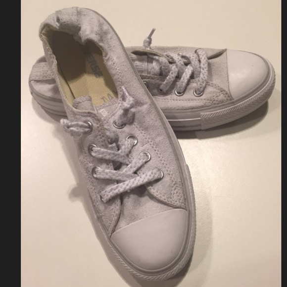 Converse Shoes - Converse All Star Shoreline Slip Ons in Light Gray 90fa2ad2c