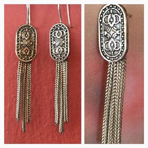 ❌sold❌sterling sliver vintage Byzantine earrings