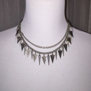 Triangle chain statement necklace!!