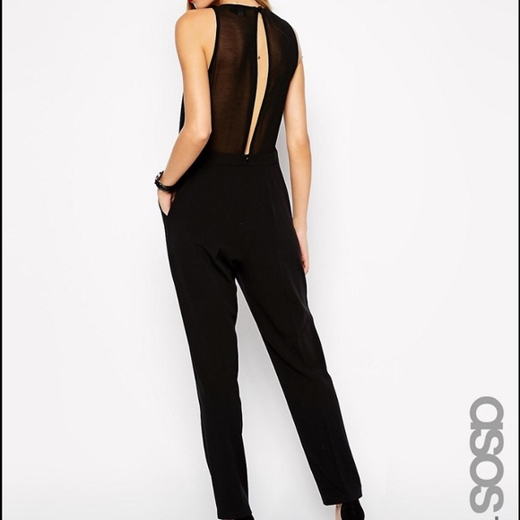 9e57e33579be Asos Pants - ASOS TALL black jumpsuit with sheer back!