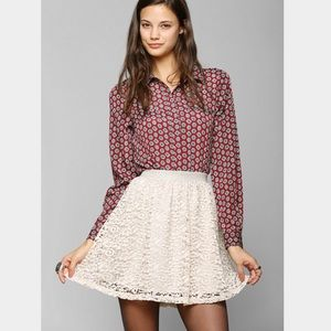 Urban Outfitters Dresses & Skirts - Kimchi Blue Penelope Lace Mini Skirt