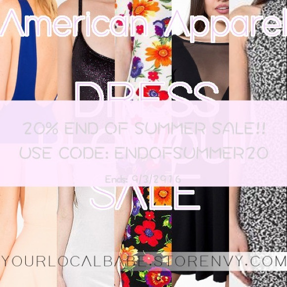 668ede03af839e 20% off American Apparel Dresses With Code!