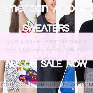 20% off American Apparel Crop Tops With Code!