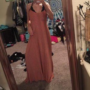 NWOT Orange Maxi Dress