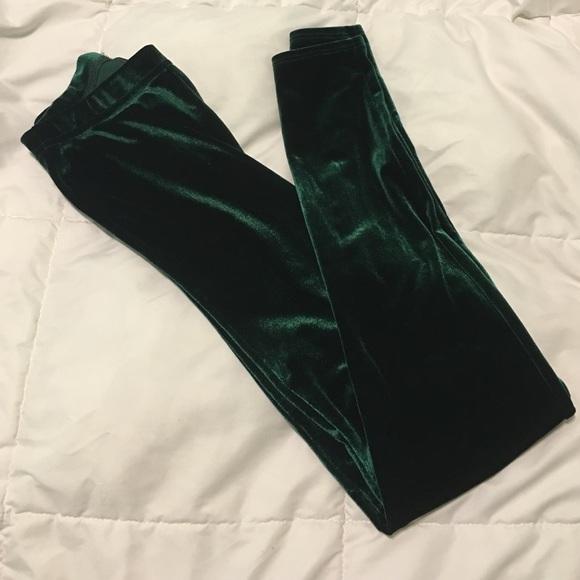 b940159366eae American Apparel Pants - American Apparel Green Velvet Leggings