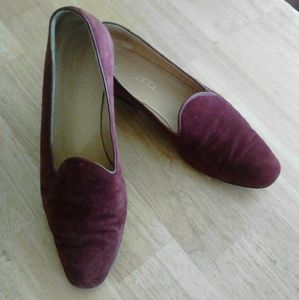 Gucci Shoes - Gucci   loafers suede  red maroon RARE shoe