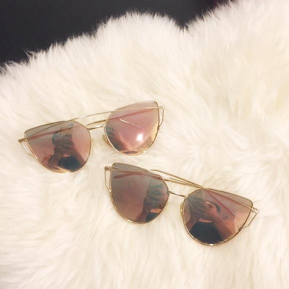 6684b256c46 SALE! Rose Cross Wire Mirror Lens Sunglasses Boutique