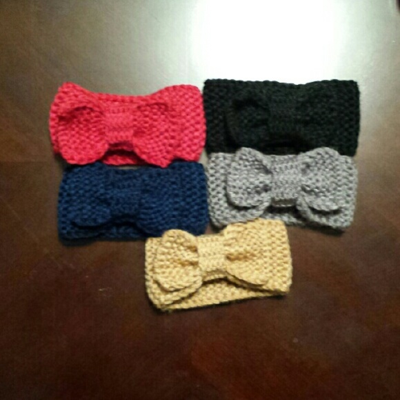 Accessories 5 Knit Bow Baby Headbands Complete Set Poshmark