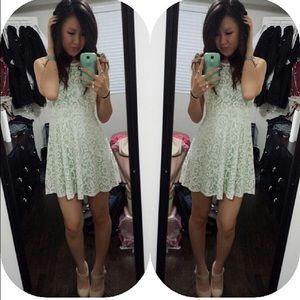 Tobi ivory laced dress