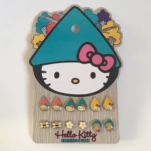 hello kitty garden gnome hello kitty earrings from. Black Bedroom Furniture Sets. Home Design Ideas