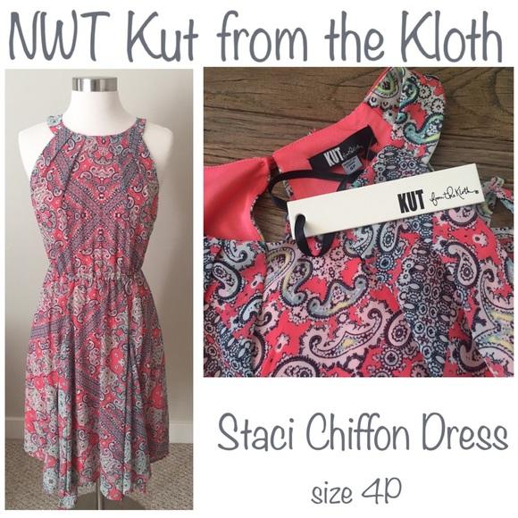 df551b7288 NWT Staci Chiffon Dress by Kut from the Kloth