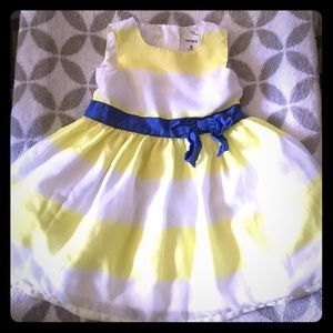 Carters yellow striped party dress