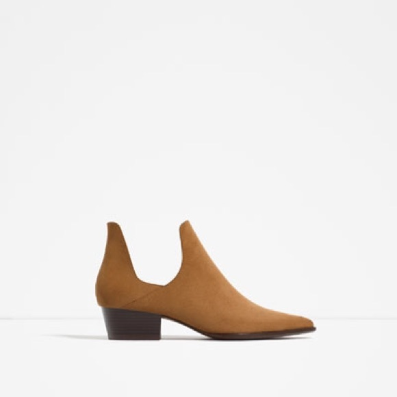 Cut Out Heeled Ankle Boots - Camel Pimkie hxBX8CD