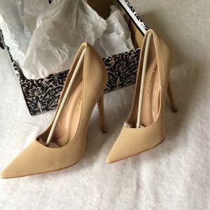 Shoe Republic LA Tan heels Size 7.5