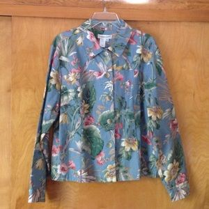 Coldwater Creek Jackets & Blazers - Gorgeous floral jacket!