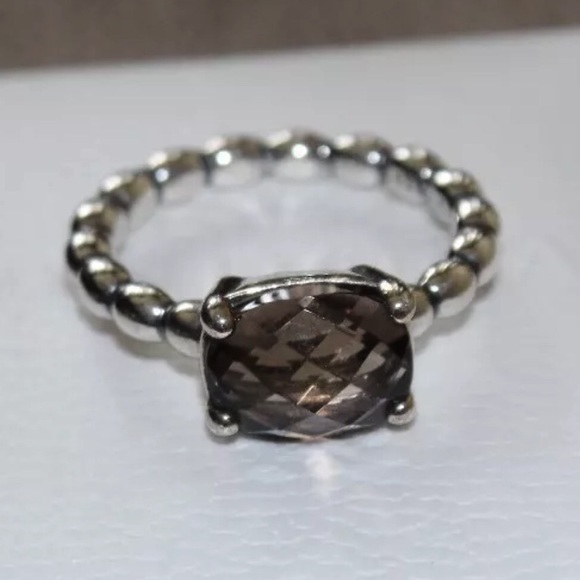cc4bad3f5 Pandora Smoky Quartz AUTUMN BREEZE S925 ALE ring!!  M_57a21d8d4127d02be90056df