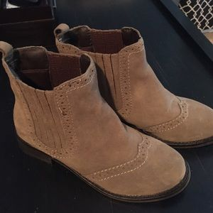 Shoemint gray suede booties