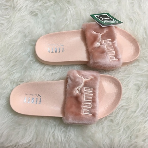 on sale 592cd 39966 ✨*NEW! rihanna pink fenty fur slide fenty puma✨ NWT