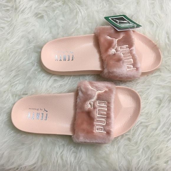✨ NEW! rihanna pink fenty fur slide fenty puma✨ b268ad0bd