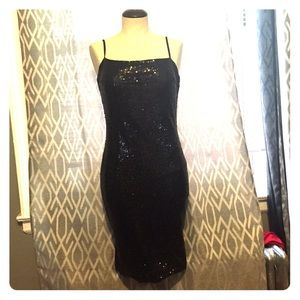 Missguided black sequin dress