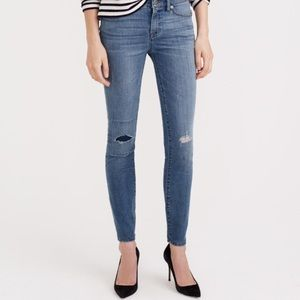 J. Crew Denim - J crew distressed toothpicks in Corbin wash