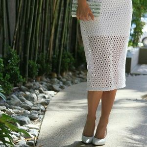 Express Skirts - Express Crochet Pencil Skirt