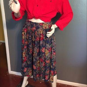 Vintage Susan Bristol floral skirt.
