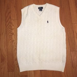 Polo by Ralph Lauren White Sweater-vest (Kids)