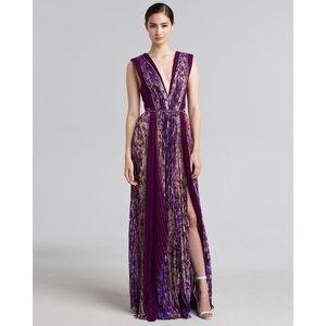J. Mendel Dresses & Skirts - J. Mendel Purple Floralprint Silk Gown