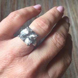 Stunning Sterling Silver CZ Ring