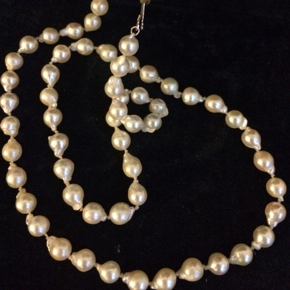Natural Saltwater Pearl Necklace: 🌹32'AAA-14K Natural Baroque