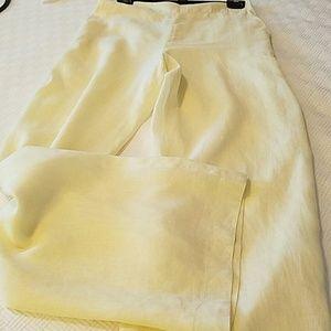 Gianfranco Ferre  Pants - REDUCED!  linen wide legged Italian designer pants