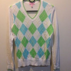 Lilly Pulitzer Sweaters - 🌈🌈 SALE Lilly Pulitzer Green Argyle Sweater 🌈🌈