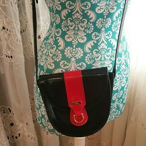 Celli Handbags - Vintage Navy and Red Cross body Bag