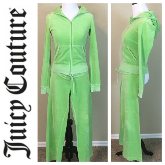 8df3341d7501 Juicy Couture Tops - Juicy Couture lime green velour tracksuit size S