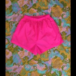 90s Vintage Neon Pink High Waisted Shorts