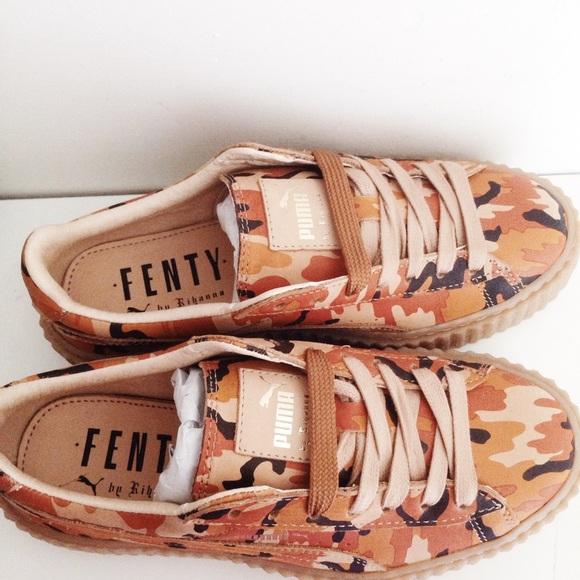 864c66f8d66b8 Puma Shoes | Rihanna Fenty Camo Creeper | Poshmark