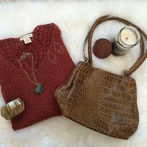 SALE ‼️ Brown vintage leather handbag